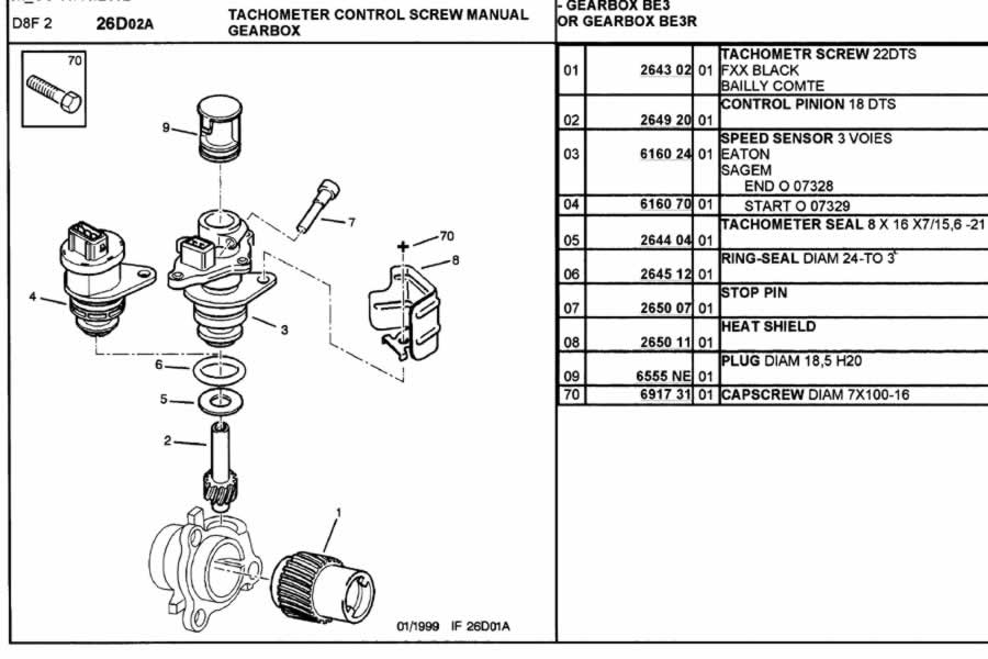 speed sensor  diff housing  ml5t